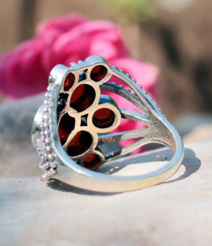 Silberring mit geschliffenen Karneol - Ganesha Shop Fürth