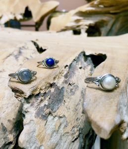 Silberringe mit Perle Labradorit Lapislazuli im Ganesha Online Shop