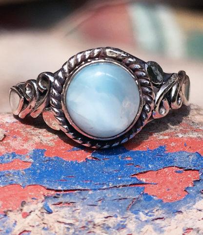 Silberring mit Larimar Stein im Ganesha Online Shop kaufen