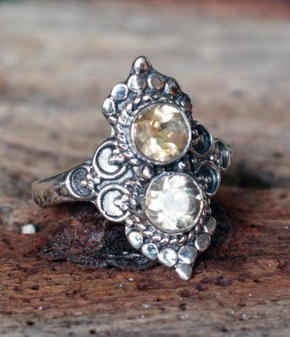 Silberring mit Citrin Steinen im Ganesha Online Shop kaufen