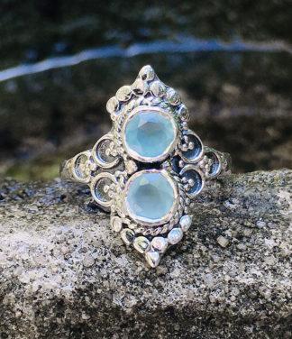 Silberring mit Chalchedon im Ganesha Online Shop