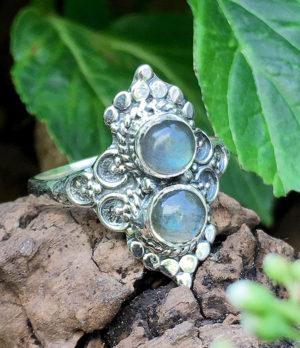 Silberring mit Labradorit aus Indien Im Ganesha Online Shop