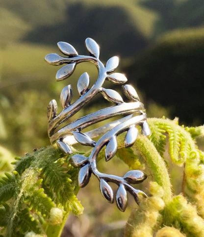 Blattranken Silberring im Ganesha Shop kaufen