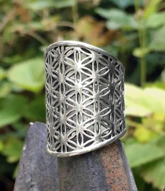 Silberring Blume des Lebens im Ganesha Online Shop
