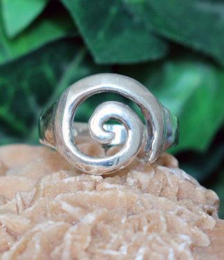 Spirale Silberring im Ganesha Online Shop