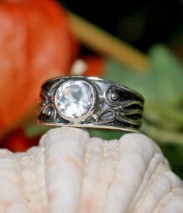 Silberring mit geschliffenen Bergkristall kaufen