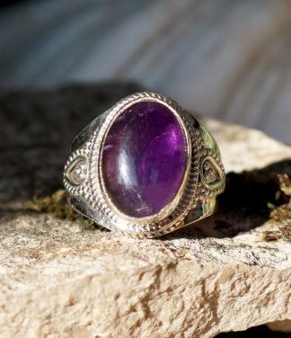 Silberring mit Amethyst im Ganesha Online Shop