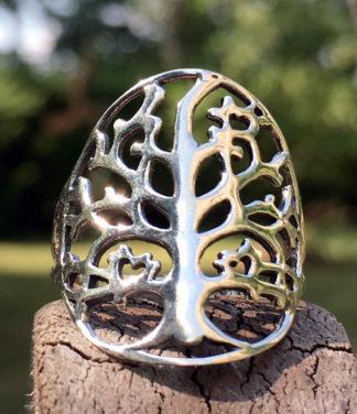 Lebensbaum Silberring aus Indien