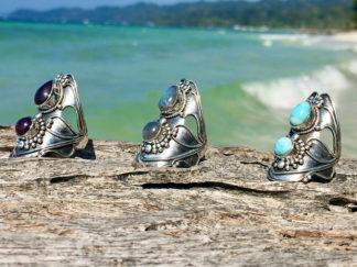 Jugendstil Silberringe aus Indien im Ganesha Online Shop
