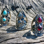 Jugendstil Silberringe aus Indien im Online Shop kaufen