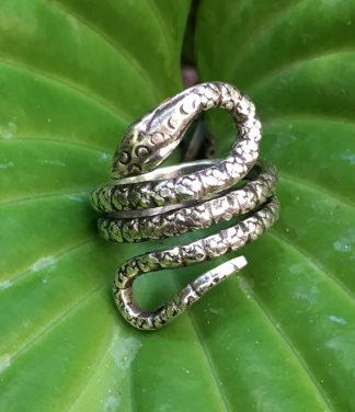 Schlangenring aus Silber im Ganesha Online Shop