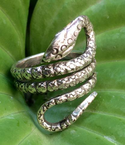 Schlangenring aus Silber