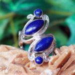Silberring mit Lapislazuli und Pyrit im Ganesha Online Shop