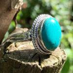 Silberring mit Türkis Stein im Ganesha Online Shop
