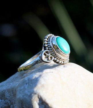 Kleiner Silberring mit Türkis im Ganesha Online Shop