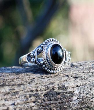 Kleiner Silberring mit Onyx Stein kaufen