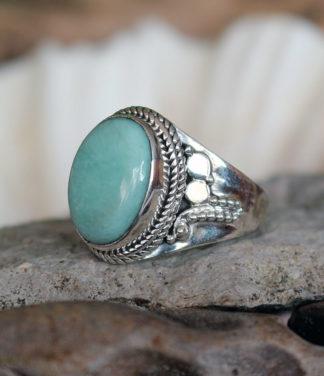 Silberring mit Larimar Stein im Ganesha Shop kaufen