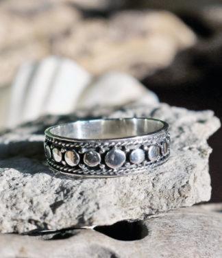 Filigraner Silberring aus Indien im Online Shop