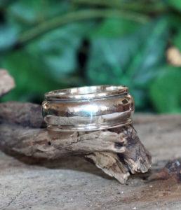 Drehring in 925 Sterling Silber