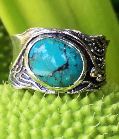 Silberring mit Türkis Stein im Ganesha Shop