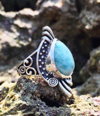 Larimar Silberring im Ganesha Online Shop