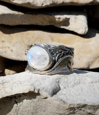 Mondstein Silberring Ganesha Online Shop